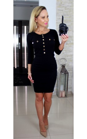Czarna bawełniana sukienka...