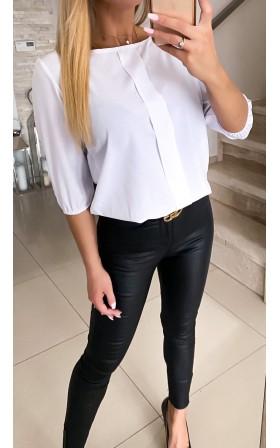 Elegancka biała  bluzka z...