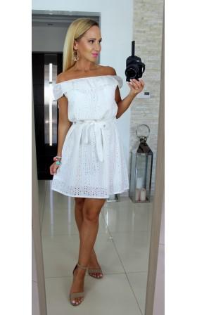 Biała sukienka hiszpanka*MAYA*